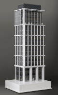 This building has been created combining tradition architedtural model making, using laser cutting and bought in items with 3D printing, creating a model that really does show how a building will look to a client before committing to build.