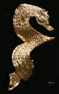 A Gold Plated Seahorse
